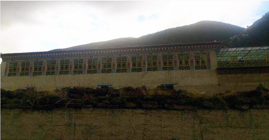 A big Tibetan dwelling that was ordered to be demolished. (Photo courtesy: TCHRD)