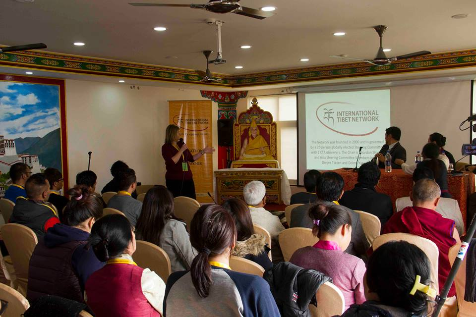 Alison Reynolds, Executive Director, ITN speaking at the 5th Asia Regional Meeting organized by the International Tibet Network (ITN). (Photo courtesy: ITN)