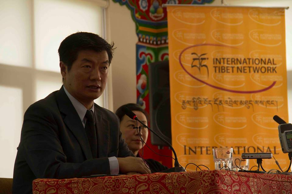 Sikyong Lobsang Sangay speaking at the 5th Asia Regional Meeting organized by the International Tibet Network (ITN). (Photo courtesy: ITN)
