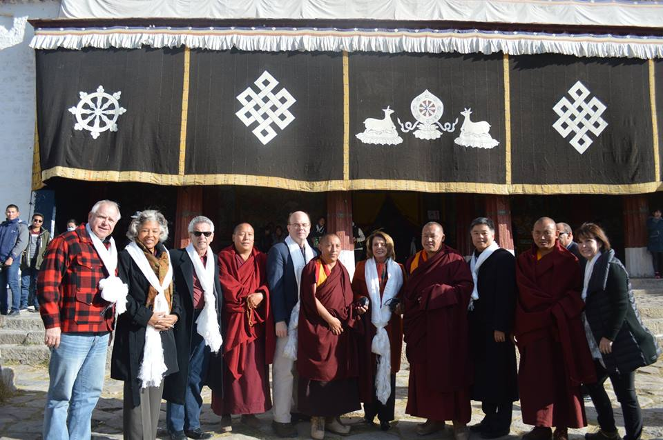 Leader Pelosi and Members of the Congressional Delegation  in Lhasa, Tibet. (Photo courtesy: democraticleader.gov)