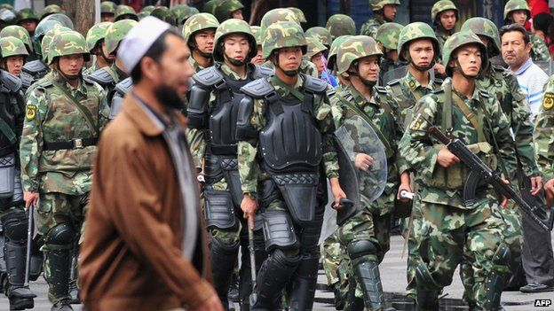 China has maintained tight security in Xinjiang amid fears of Uighur separatism. (Photo courtesy: AFP)