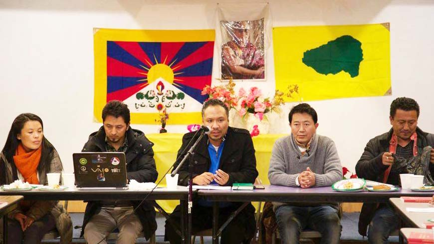 Tibetan Youth Congress Executives meeting with former board members of RTYC  New York New – Jersey Chapter. (Photo courtesy: TYC)