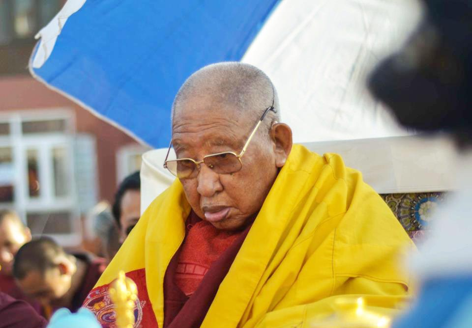 Kyabjé Taklung Tsetrul Rinpoche, the head of the Nyingma Tradition of Tibetan Buddhism.