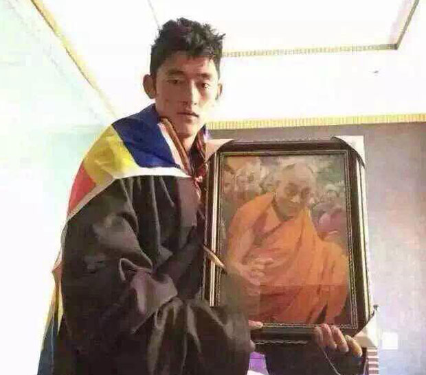 Tashi Dondrub is shown before staging his protest in Dzoege, Sichuan, Dec. 19, 2015. (Photo courtesy: RFA)