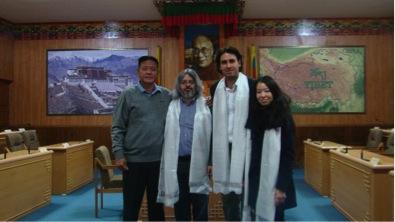 Speaker Penpa Tsering with Chilean MP Mr Vlado Mirosevic and Friends of Tibet, Chile members Mr Fernando Salinas and Ms Margarita Serrano at the Parliamentary Secretariat on 1 December 2015. (Photo courtesy: tibet.net)