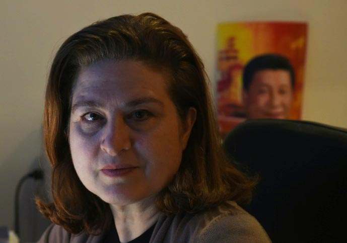 Ursula Gauthier, a Beijing-based correspondent for French news magazine L'Obs. (Photo courtesy: AFP)
