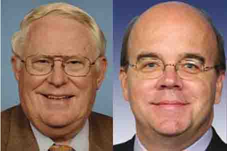 The Congressmen, Joseph Pitts (R-PA), and Jim McGovern (D-MA), Co-Chairs of the Tom Lantos Human Rights Commission.