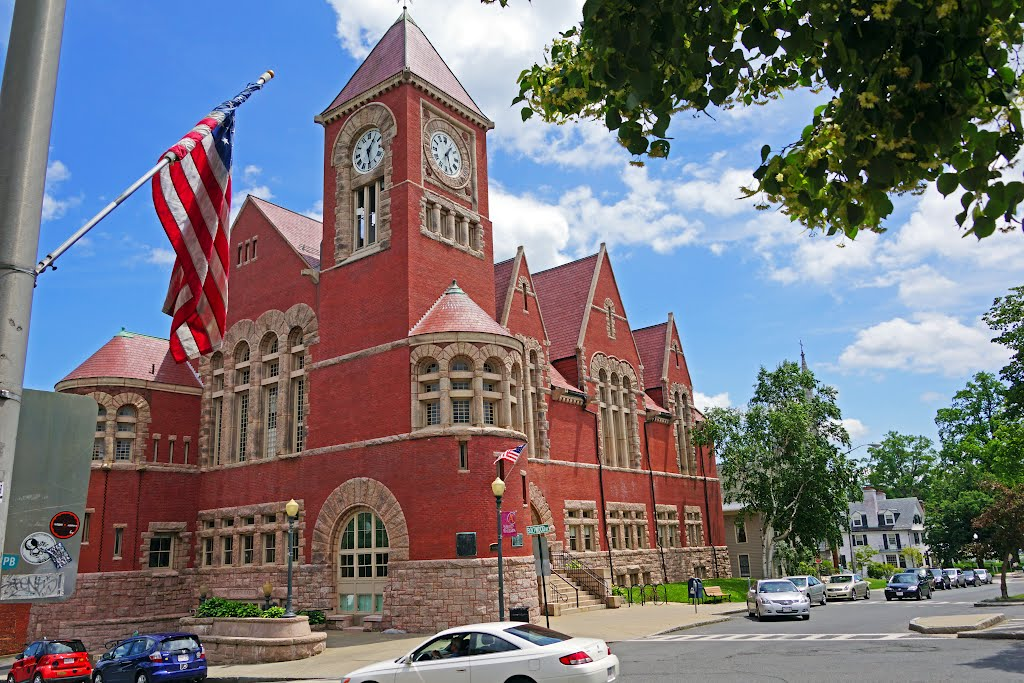 Amherst Town Hall, The city of Amherst, Massachusetts, USA.