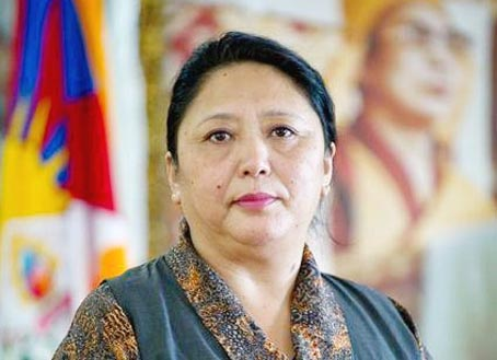 Ms Dolma Gyari, Home Kalon (Minister). (Photo courtesy: grandain.com)