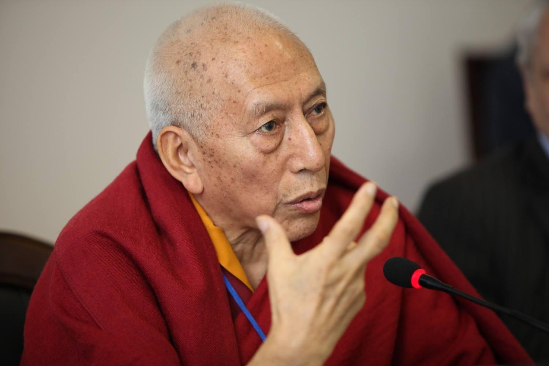 Former Kalon Tripa Samdhong Rinpoche. (Photo courtesy: samdhongrinpoche.com)