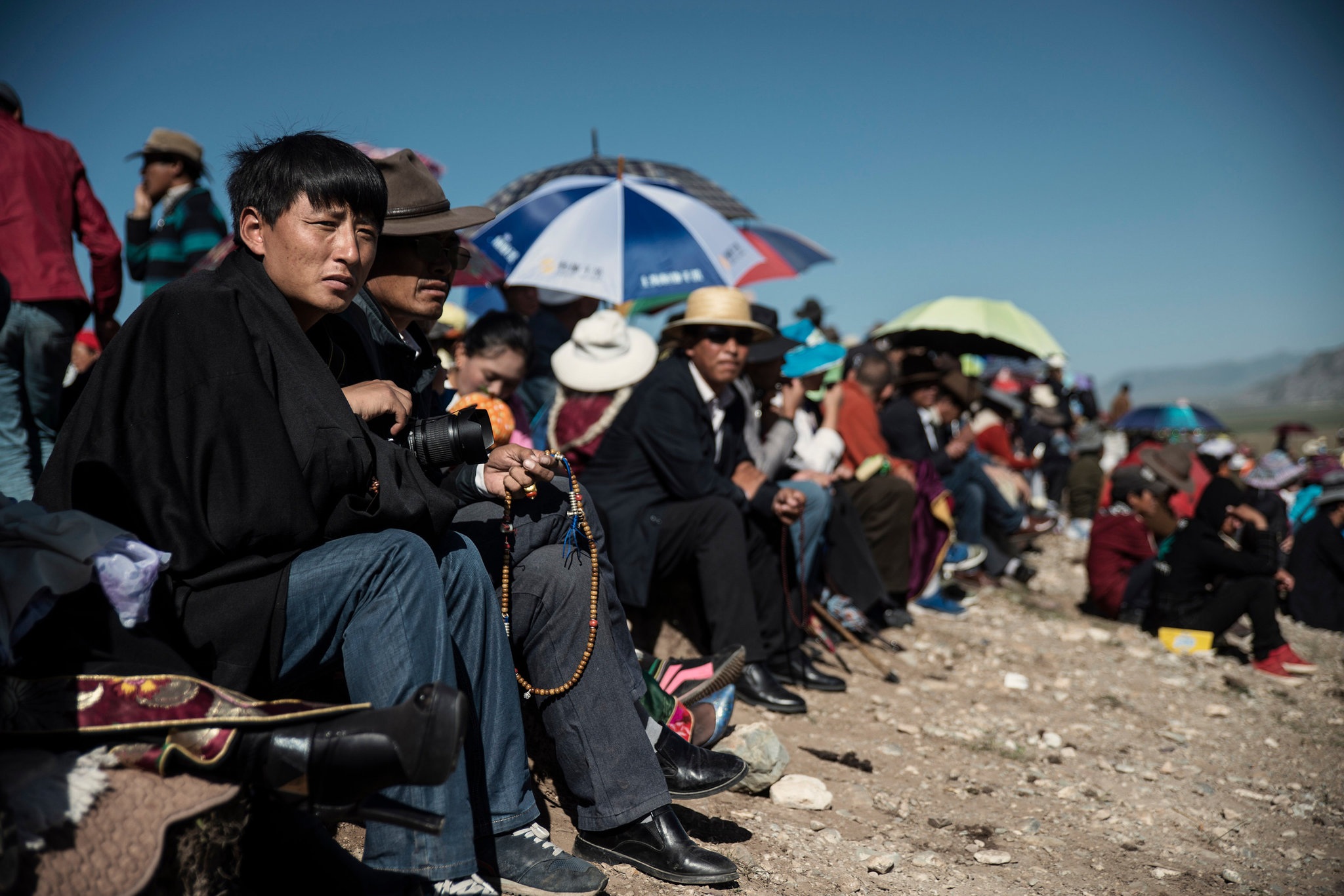 Tashi Wangchuk, a Tibetan entrepreneur, at a horse festival in Yushu, a Tibetan area of Qinghai Province, China, last year. He is illegally detained by the police for over a month. (Photo courtesy: Gilles Sabrie/The New York Times)