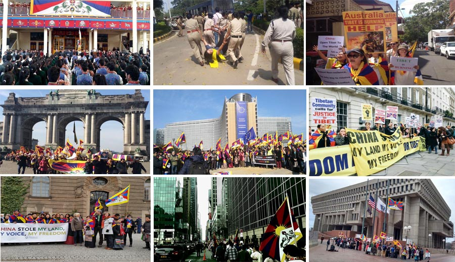 Tibetans across the free world, joined by their supporters, marked on Mar 10 the 57th anniversary of their uprising against the Chinese occupation of their homeland with protest rallies, flying of Tibetan national flags from prominent public buildings and private homes, and speeches.