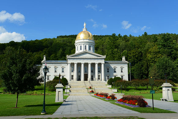 Vermont State House building in Montpelier. (Photo courtesy: state-capitals.org)