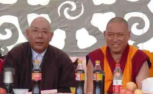 Chairman Gyalten Rinpoche and Abbot Geshe Pema  Samten.