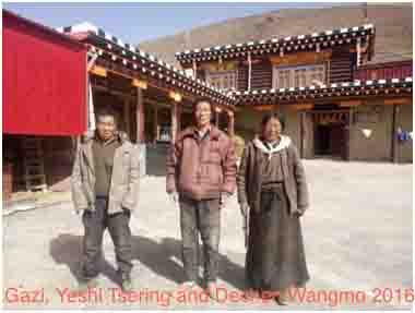 Gazi, Yeshi Tsering and Dechen Wangmo in 2016.