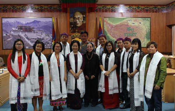 A delegation from the Kachin state of Myanmar visited the Central Tibetan Administration at Dharamshala, India, and met with the Speaker of the Tibetan Parliament-in-Exile Mr Penpa Tsering. (Photo courtesy: Tibet.net)