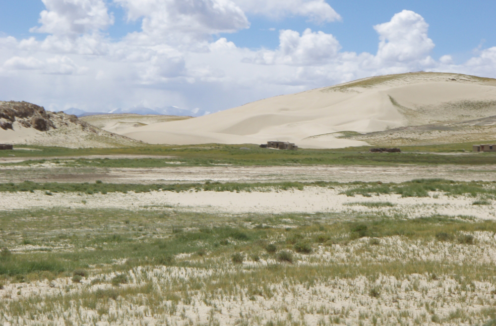 Desertification near the Mt. Kailash and its adjoining areas. (Photo courtesy: tibet.net)