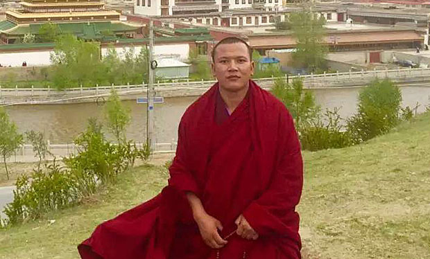Detained Tibetan monk Choesang Gyatso. (Photo courtesy: RFA)
