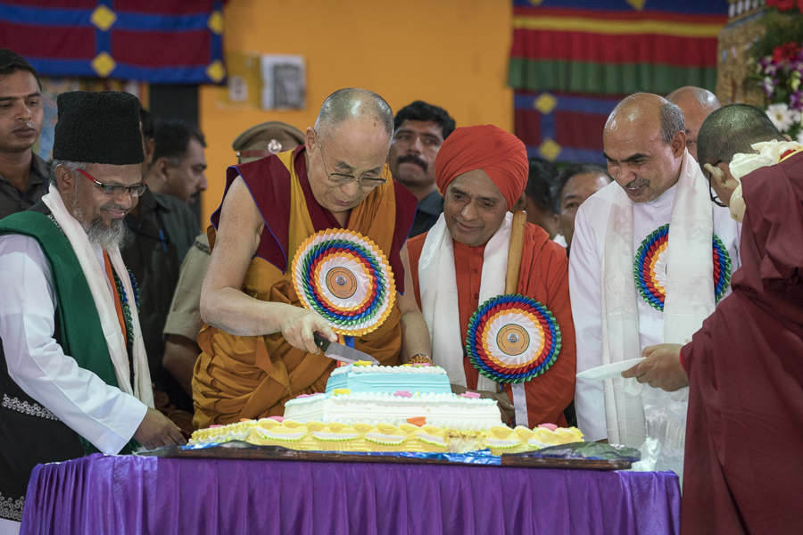 His Holiness's 81st Birthday - Mundgod, Karnataka, India - July 6, 2016. (Photo courtesy: OOHDL)