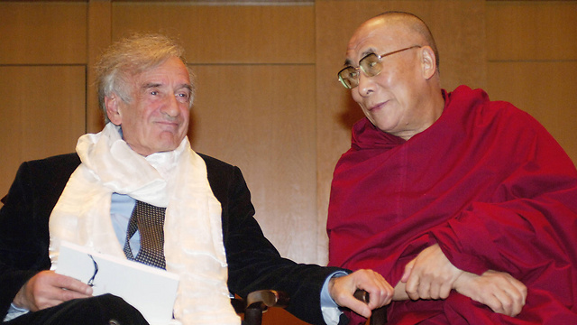 Elie Wiesel and the Dalai Lama (Photocourtesy : AFP)