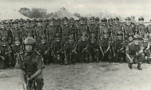 Tibetan troops of SFF after victory in Chittagong where they conducted clandestine operations during 1971 war. (Photo courtesy: thehimalayatimes.me)