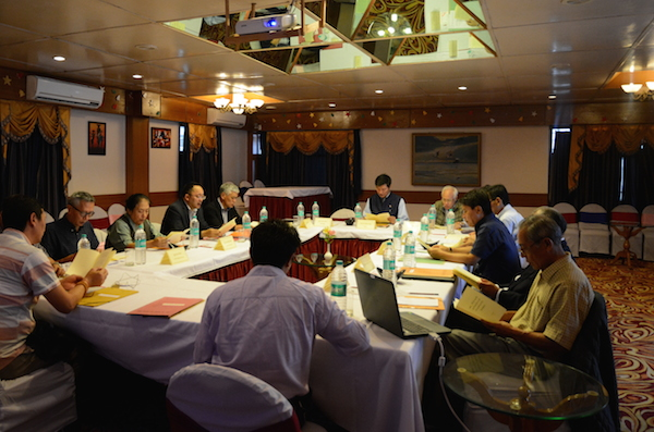 Sikyong Dr Lobsang Sangay presides over the 28th task force meeting on Sino-Tibetan negotiations in Dharamshala on 15 July 2016. (Photo courtesy: tibet.net)