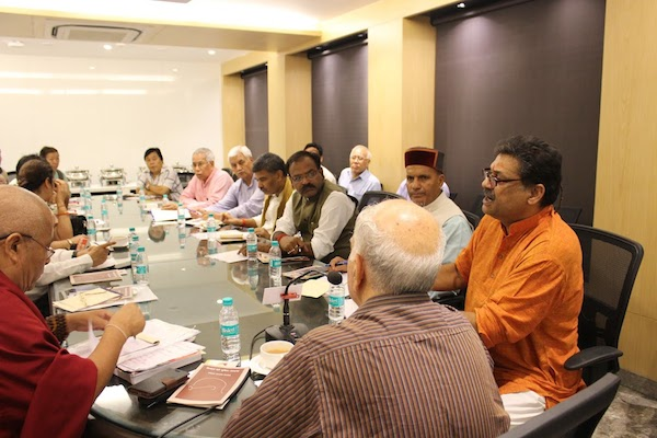 Meeting of All Party Indian Parliamentary Forum For Tibet held under the convenorship of Shri Shanta Kumar, former chief minister of Himachal Pradesh and a current member of the Indian Parliament at the Constitution Club of India, New Delhi on 2 August 2016. (Photo courtesy: tibet.net)