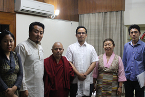 Tibetan Parliamentary Delegation met Shri Gaurav Gogoi, MP, Lok Sabha at New Delhi. The parliamentary delegation is comprised of Ms Dolma Tsering and Mr Lobsang Choejor, and is led by Ven Acharya Yeshi Phuntsok, Deputy Speaker of the Tibetan Parliament-in-Exile. (Photo courtesy: Tibet.net)