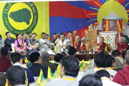 The 16th General Body Meeting (GBM) of the Tibetan Youth Congress (TYC), the largest non-governmental, grassroots Tibetan organization, began in Dharamshala, India, on Aug 28. (Photo courtesy: Phayul/ Kunsang Gashon)