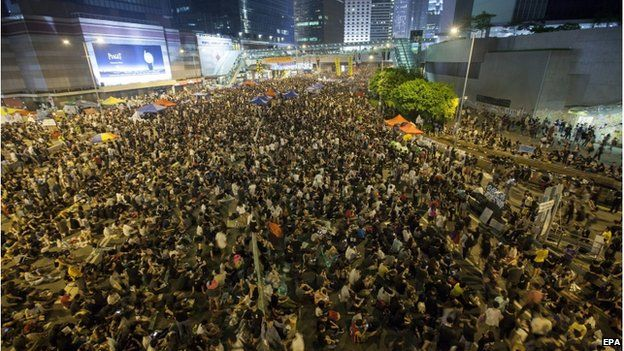 "China has denounced the street protests that took place in early October as ""illegal"" (Photo courtesy: BBC)"