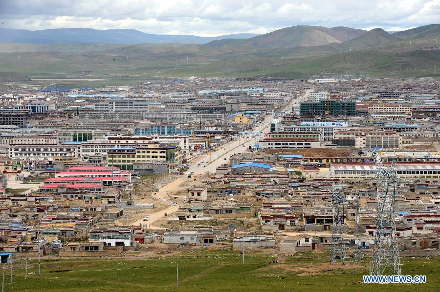 – The local Chinese government of Tibet Autonomous Region (TAR) has said it will launch the process to make Nagqu (Tibetan: Nagchu) Prefecture the region's sixth City. (Photo courtesy: http://news.xinhuanet.com/)