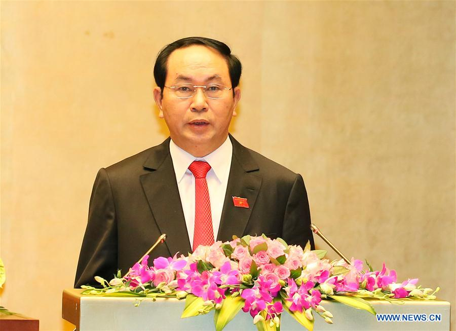 President Tran Dai Quang of Vietnam. (Photo courtesy: Xinhua/VNA)