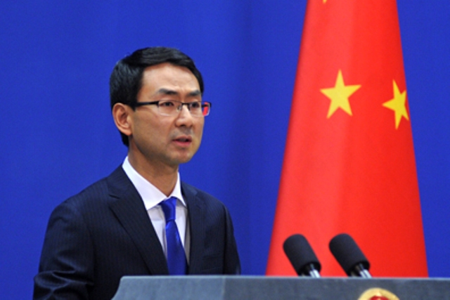 China's Foreign Ministry spokesman Geng Shuang.