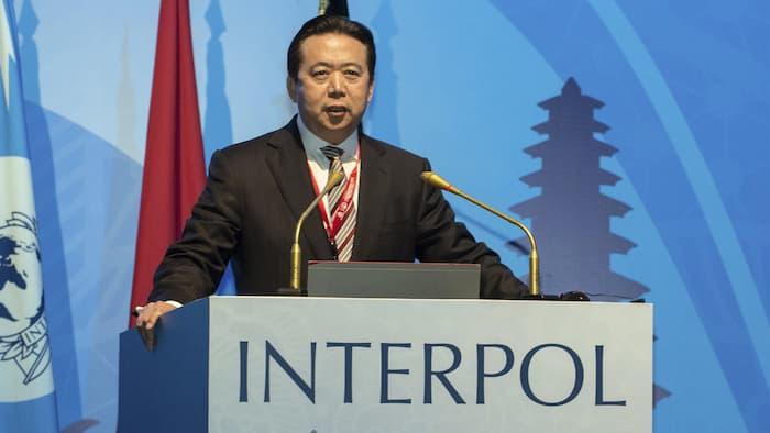 Mr Meng Hongwei, China's vice-minister of public security, as the president of Paris-based Interpol's executive committee.