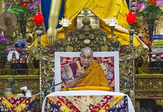 File photo of His Holiness the Dalai Lama at the Tsuglagkhang in Dharamsala, HP, India. (PhotoTenzin Choejor/OHHDL)