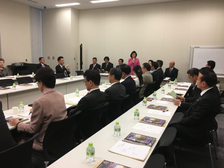Ms Yoshiko Sakurai, a Japanese journalist and president of the Japan Institute for National Fundamentals, addressing the inauguration of All Party Japanese Parliamentary Group for Tibet at the Japanese Parliament building in Tokyo, Japan, on 14 December 2016/Office of Tibet. (Photo courtesy: tibet.net)