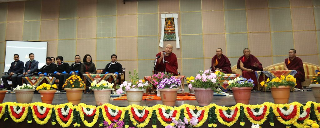 is Holiness the 17th Gyalwang Karmapa Ogyen Trinley Dorje visited the Kala Wangpo Convention Hall to speak on Buddhist Philosophy and its relevance in the modern times. Chief Minister Pema Khandu, RWD Parliamentary Secretary Jambey Tashi, Tawang MLA Tsering Tashi and other dignitaries accompanied him. (Photo courtesy: http://the17thkarmapa.blogspot.in)
