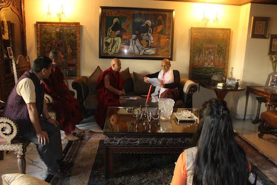 Tibetan parliamentary delegation with Shri Dr Abishek Sanghvi, MP (Rajya Sabha). (Photo courtesy: tibet.net)