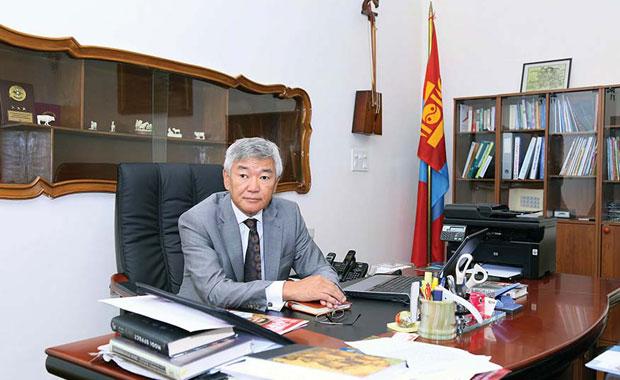 Mongolian diplomat Gonchig Ganbold.
