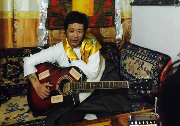 Tibetan singer Amchok Phuljung is shown in an undated photo. (Photo courtesy: RFA)