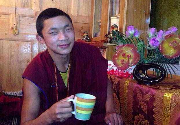 Detained monk Lobsang Dargye is shown in an undated photo. (Photo courtesy: RFA)