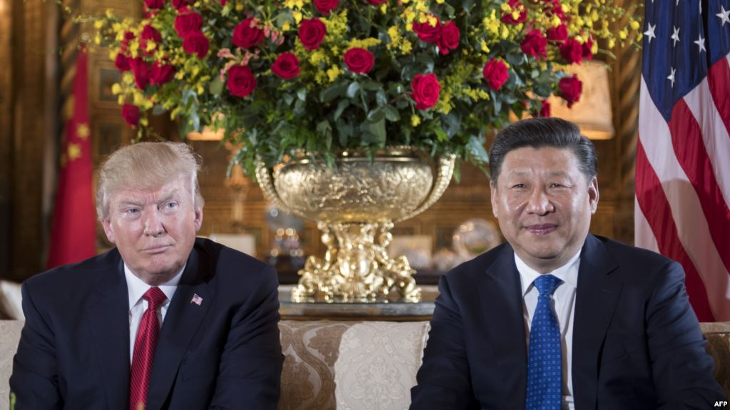 U.S. President Donald Trump (left) and Chinese President Xi Jinping during a bilateral meeting. (Photo courtesy: Radio Free Europe)
