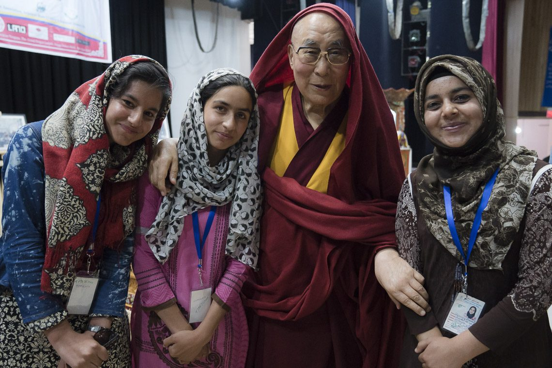 Tibet's exiled spiritual leader, the Dalai Lama, on Jul 27 took part in a seminar on communal harmony in Choglamsar region of Ladakh in the Indian state of Jammu & Kashmir. (Photo courtesy: OHHDL)