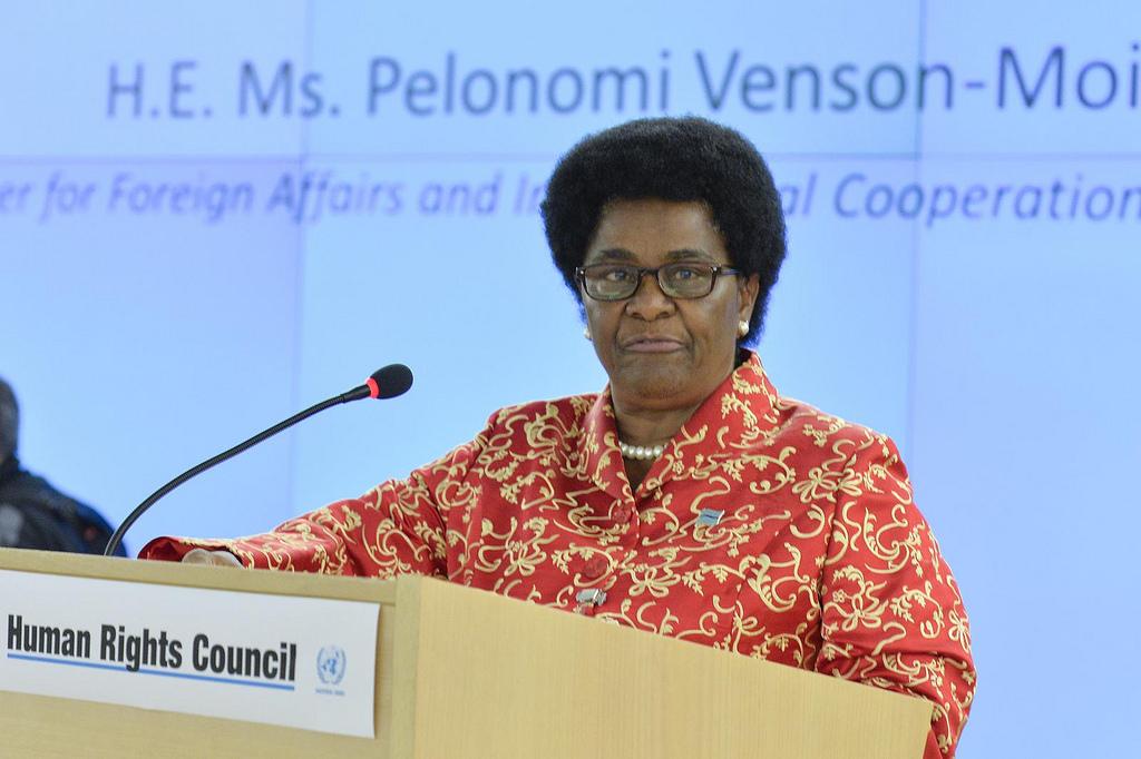 Botswana Foreign Minister Pelonomi Venson-Moitoi.