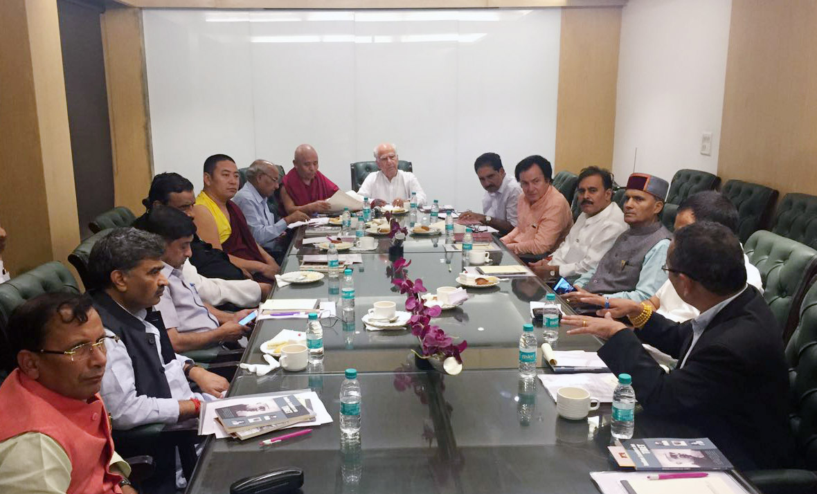 A meeting of the All Party Indian Parliamentarians Forum on Tibet (APIPFT) was held Aug 8 at the Constitution Club of India, New Delhi, with the participation of 15 members of the Indian parliament. (Photo courtesy: Lobsang Tenzin/ITCO)