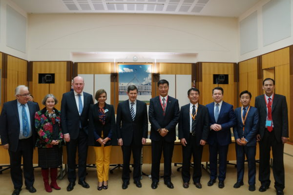 Sikyong Lobsang Sangay, on Aug 9 briefed the Human Rights Sub Committee of the Australian Parliament during his ongoing visit to the country. (Photo courtesy: tibet.net)