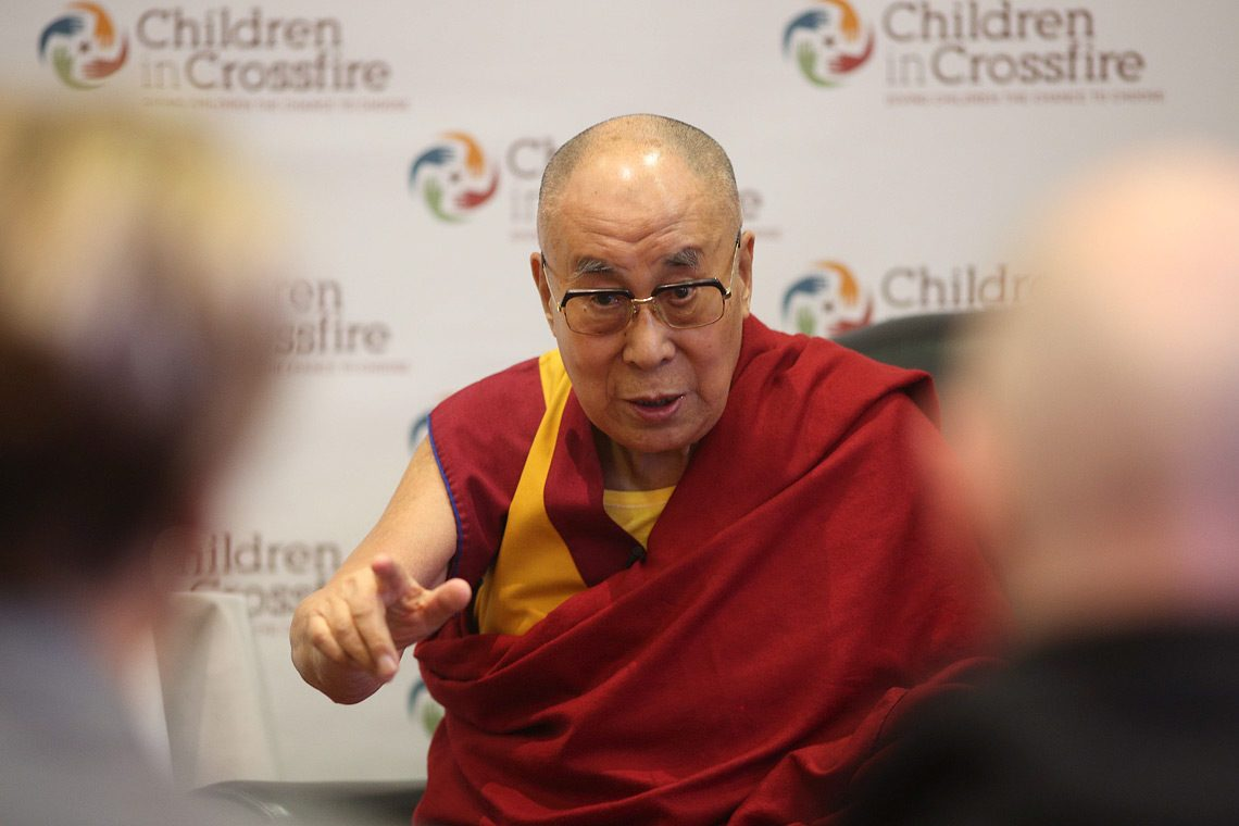 "The Dalai Lama has invoked the Buddha to call on the majority Buddhists and leaders of Burma to end the tragic plight of the Rohingya Muslims whom the UN says are suffering from ""ethnic cleansing"". (Photo courtesy: OHHDL)"