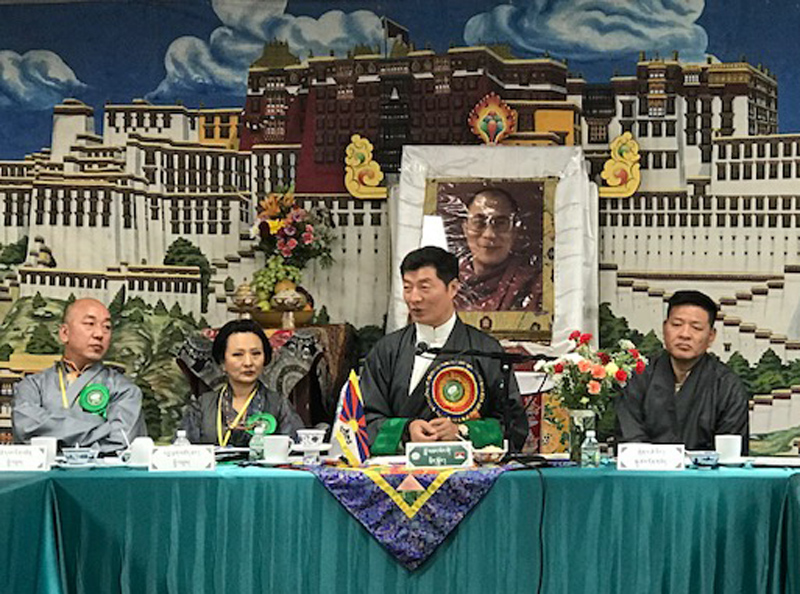 President Dr Lobsang Sangay addressing the 16th annual conference of North American Tibetan Associations. (Photo courtesy: tibet.net)