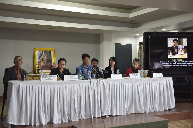 A delegation from Taiwan addressing staff of the Central Tibetan Administration. (Photo courtesy: tibet.net)