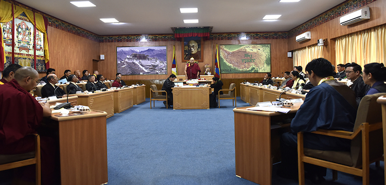 The fourth session of the 16th Tibetan Parliament in Exile opened at Dharamshala on Sep 19 with the main agenda to discuss the annual work reports of the seven departments of the Central Tibetan Administration. (Photo courtesy: tibet.net)